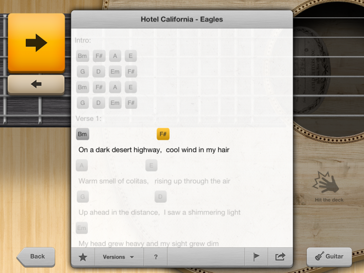 songful 730x547 Songful turns your iPad into a sweet Ultimate Guitar powered touch guitar