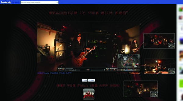 01 facebook App Guitar hero: Slash taps 360 degree video tech to broadcast a single from his latest album on Facebook