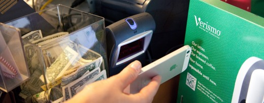 Square being used in Starbucks