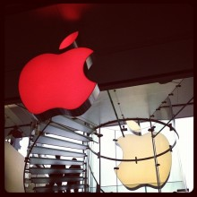 Apple store logo now (RED)
