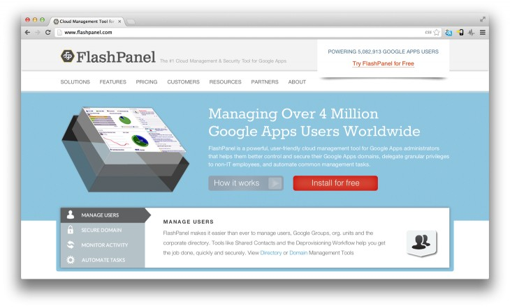 Flashpanel 730x442 Google Apps admin toolkit FlashPanel wins the latest API Mashup Contest