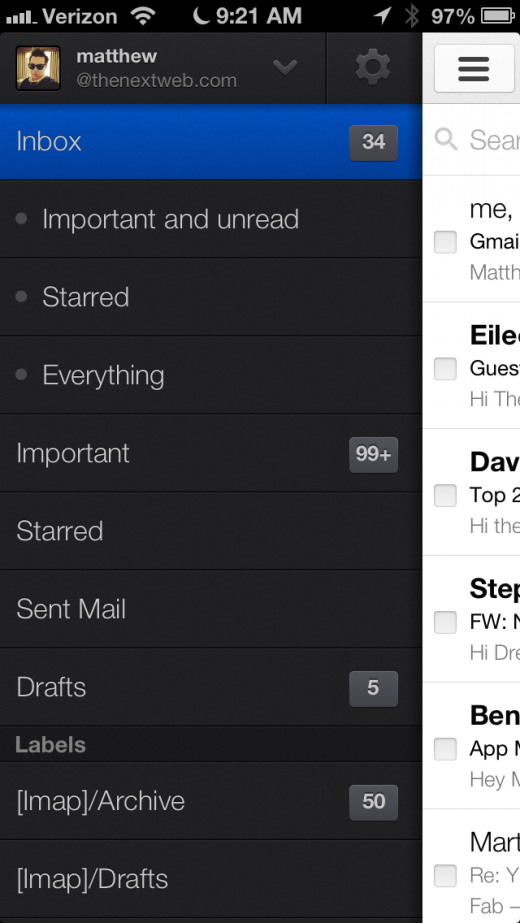 IMG 0565 520x923 Gmail for iOS updated with multiple account support, new design, infinite scrolling inbox and more