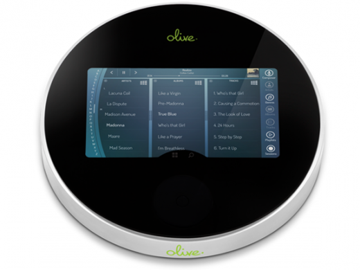 LowerFront 520x390 Olive Media crowdfunds its new all in one home music player, and will even let you help design it