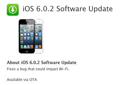 apple releases ios 6 0 1 update for iphone 5 ipad mini