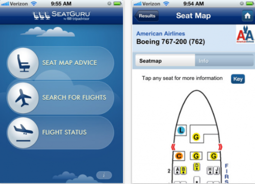 SeatGuru 13 of the best travel apps of 2012