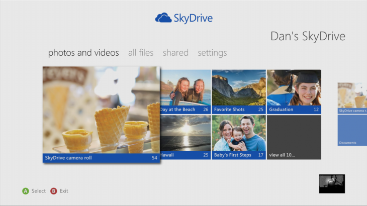 Microsoft's Skydrive app for Xbox 360 available later today, as 40 new apps come to the console ...