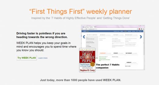 Weekplan 520x277 20 apps to help you keep your New Year resolutions