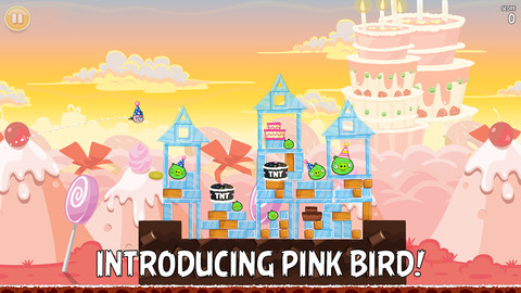angry Happy Birdday! Angry Birds turns three, adds 30 new levels, full iPhone 5 support and Pink Bird