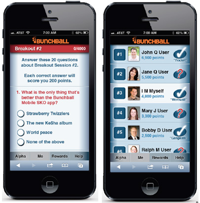 Bunchball screenshot