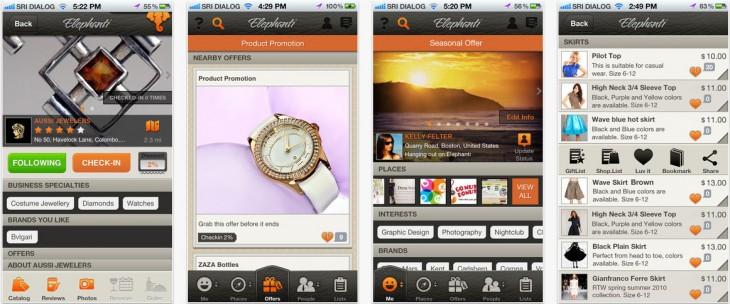 Elephanti app screenshots