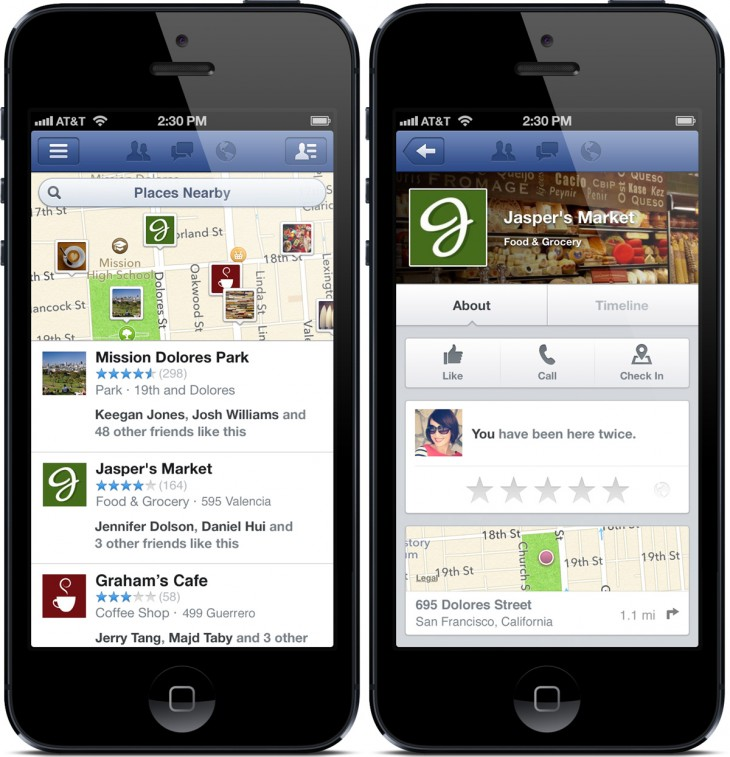 Facebook Nearby screenshot