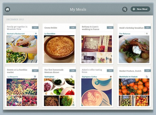 Evernote Food MyRecipes Screen