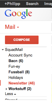 gmail squadmail folders1 35 of the best productivity and lifehack apps of 2012