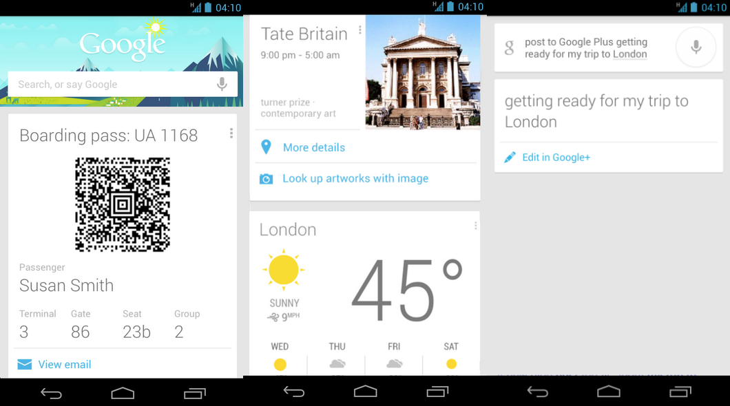 Google Now Adds More Travel, Voice Search Features