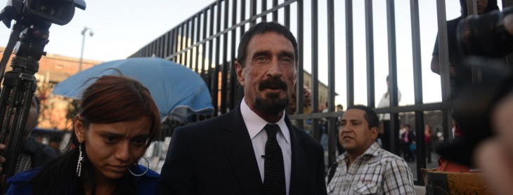 Crazed John McAfee's blog claims that Vice helped get him arrested, now pursuing legal options