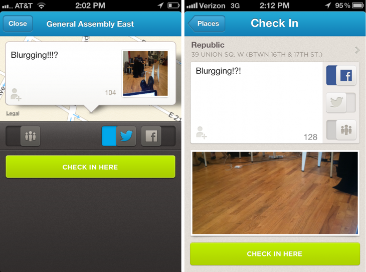 photo 730x542 Foursquare for iOS gets a faster, redesigned check in screen and check in highlights