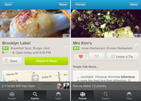 Foursquare brings updated venue pages to iOS, adds new post checkin highlights