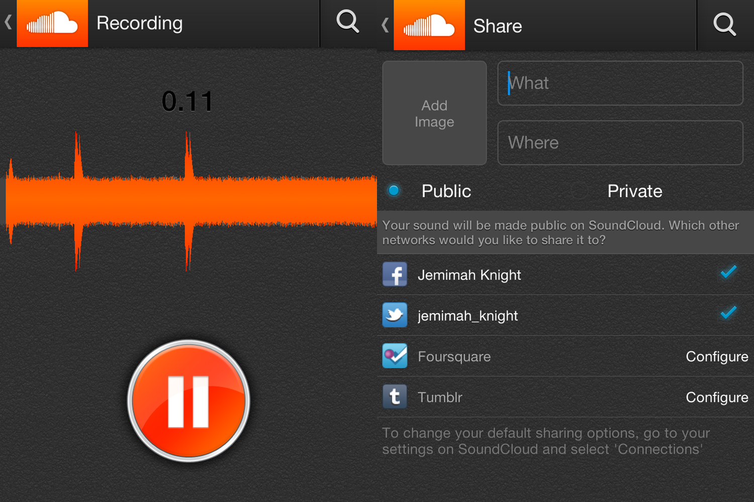 How to use soundcloud app
