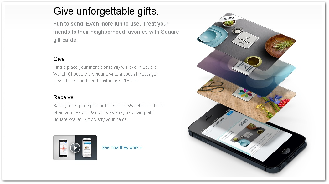 Square integrates passbook and introduces gift cards to ios app the colourmoves
