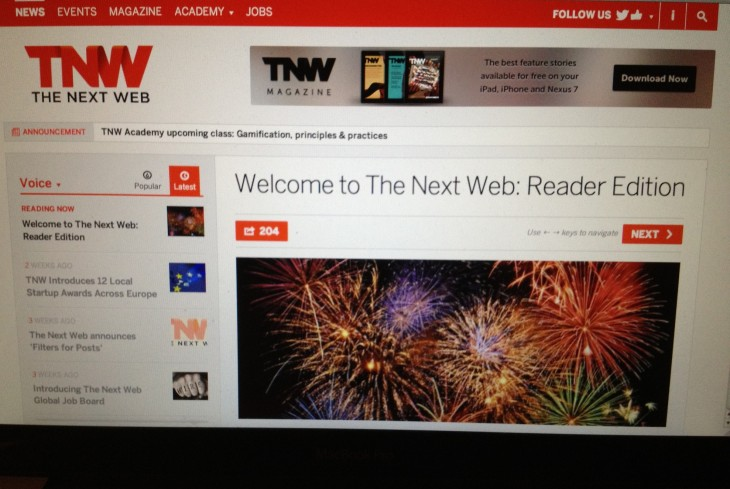 tnw reader edition 730x489 From Internet freedom to TNW Conference: A year at The Next Web