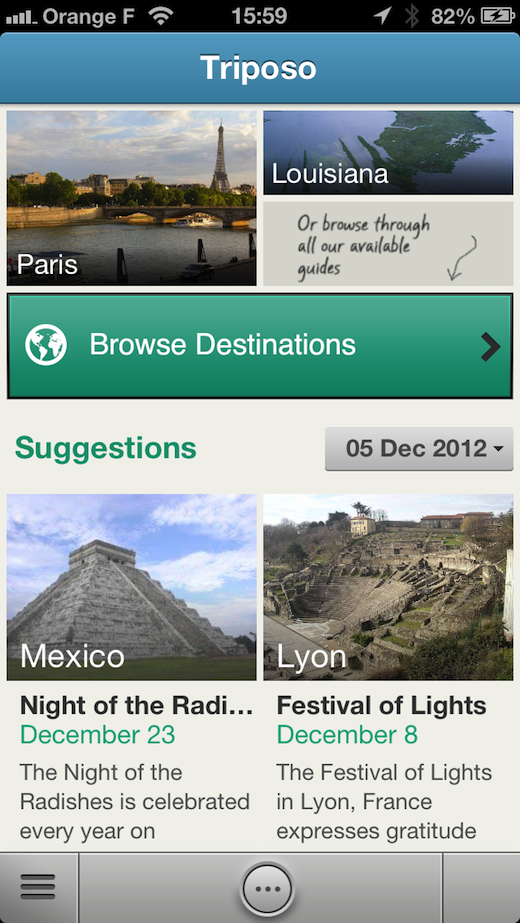 triposo Built by ex Googlers, Triposo now offers free mobile travel guides for 8,000 destinations