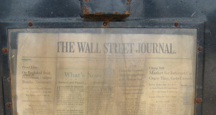 The Wall Street Journal finally gives in to the lure of Apple and appears on Newsstand