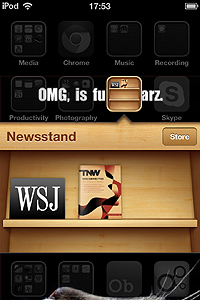 wsj on newsstand The Wall Street Journal finally gives in to the lure of Apple and appears on Newsstand