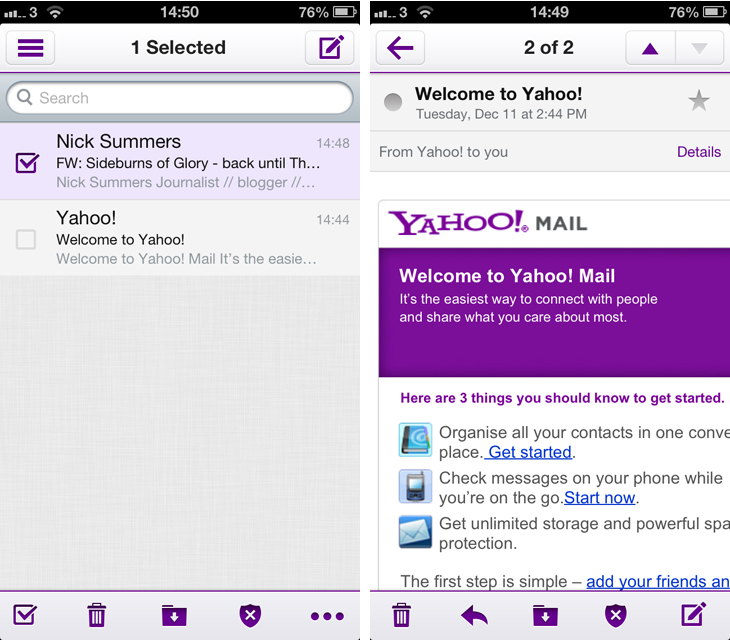 yahoo screens Yahoo Mail gets a big redesign with simpler navigation across all major platforms
