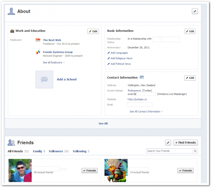 3 730x649 Facebook begins rolling out new single column Timeline with greater emphasis on messages [Updated]