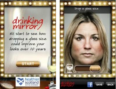 Drinking Drinking Mirror for Android reveals how badly youll age if you dont curb your boozing