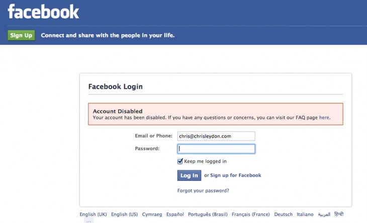 Facebook 730x443 What happened when Facebook disabled my account