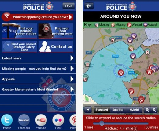 GMP 520x430 UK police force launches location based app for public appeals on missing people and wanted suspects