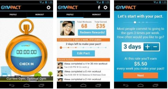 GymPact GymPact now lets Android users earn real money by sticking to their fitness goals