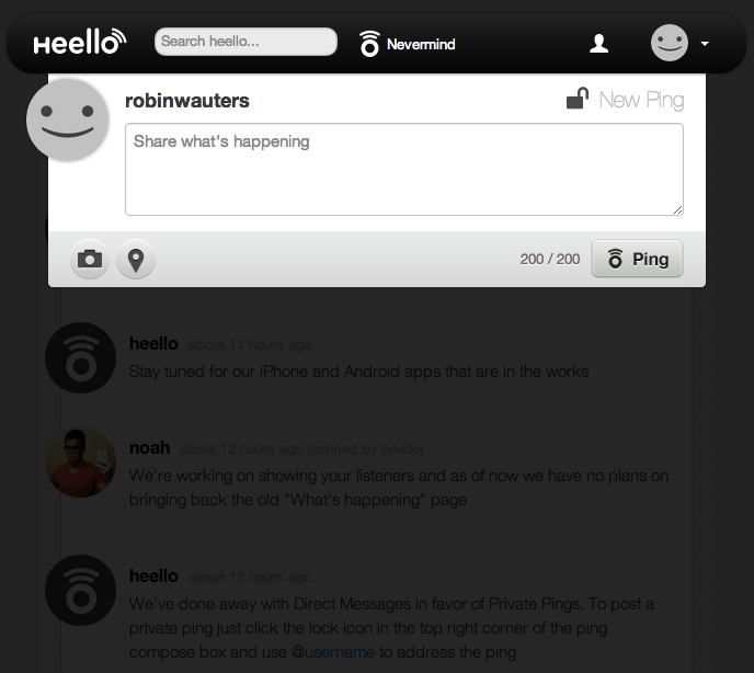 Heello 101420 Twitpic founder quietly relaunches Twitter rival Heello in beta: Like App.net, but free