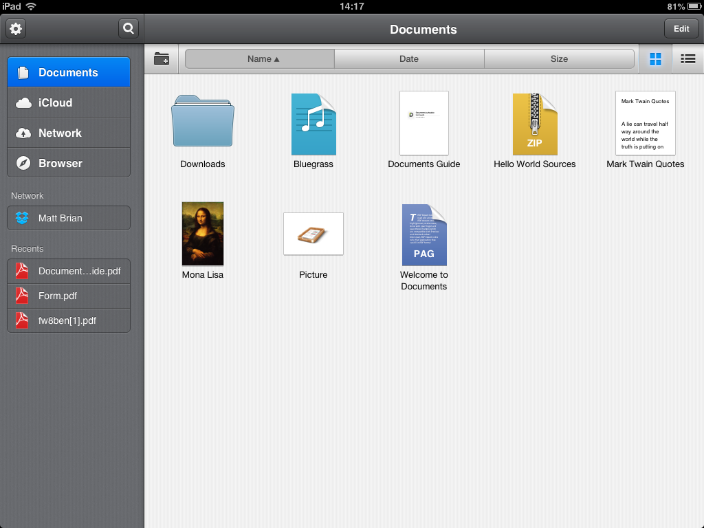 Readdle's Documents is a Lean, Powerful File Management iPad App
