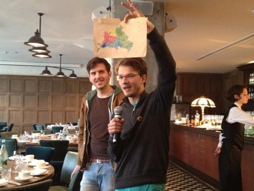 Hy Berlin founders Aydogan Ali Schosswald and Hans Raffauf kick off the event at Soho House