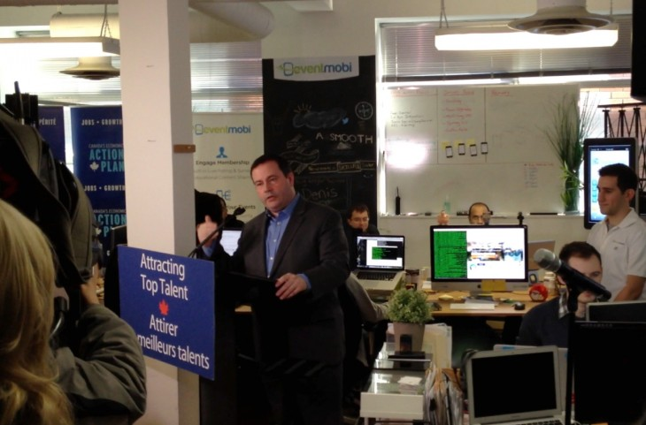 Minister_Jason_Kenney_announce_Canada's_Startup_Visa_Program_at_EventMobi