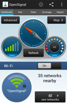 OS1 220x345 OpenSignal now features crowdsourced mobile coverage maps to compare the quality of networks in your area