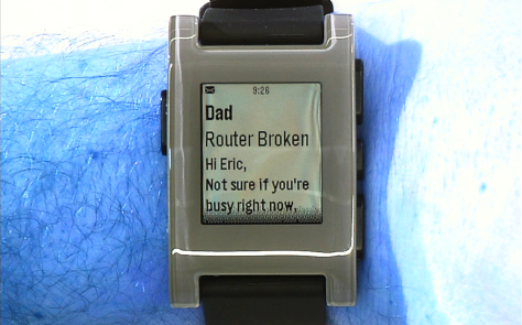 Screen Shot 2013 01 09 at 12.26.08 PM Pebble smartwatch enters mass production, featuring Sharp display, 7 day battery life, ships Jan 23