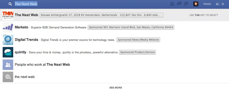 Facebook simple search Graph Search