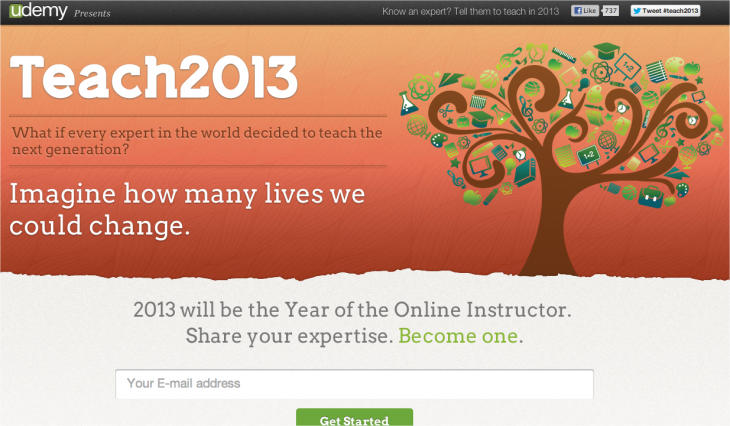Snap 2013 01 08 at 17.54.25 730x426 Udemy launches Teach2013 to encourage industry experts to create and teach their own courses