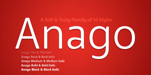 anago 38 Of the most beautiful typeface designs released this winter