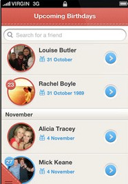 b8 Cleverbugs iOS app taps your friends Facebook photos to post personalized birthday cards globally