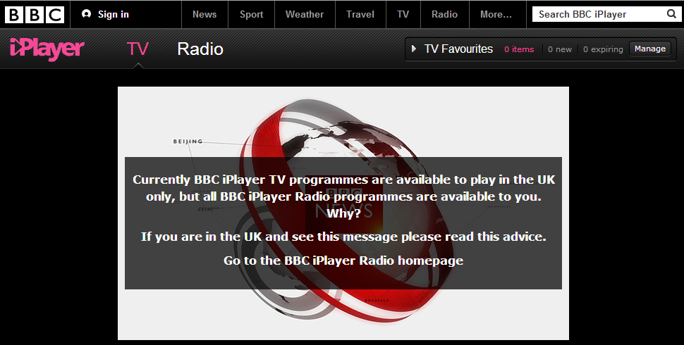 Does bbc iplayer work with hola