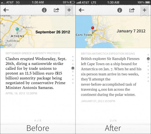 before after point 520x461 Circa updates its iOS app with a refreshed design, share by email functionality and more