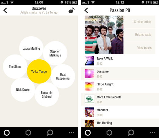 bloomscreens2 Bloom.fm combines Internet radio, streaming and a local music player into one stunning iPhone app