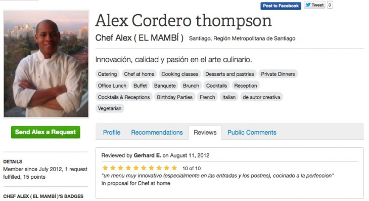 chef surfing review 730x397 With 1,000 registered cooks, Chef Surfing has its focus set on the Latin American market