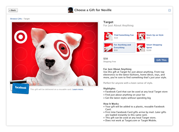 detail Facebook introduces the Facebook Card: Yet another way for businesses to rely on the social giant