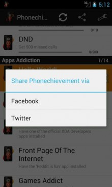 e2 220x366 Phonechievements: Unlock achievements for meeting mundane milestones on your Android device