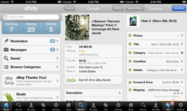 ebay ios 27 730x432 eBay updates iOS apps with new listing flow for easier selling, speedier checkout, and better search